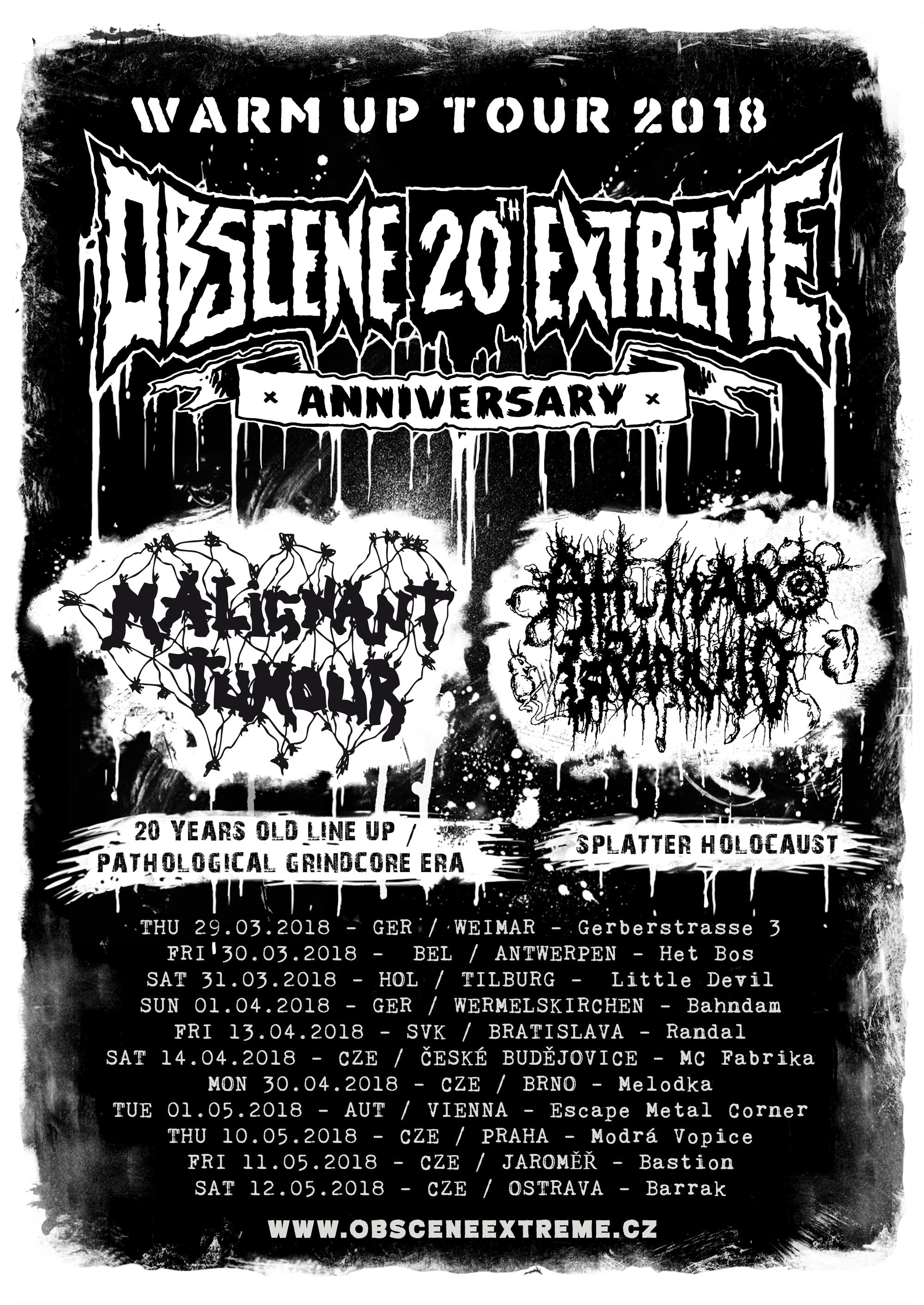 OBSCENE EXTREME 2018 WARM UP TOUR