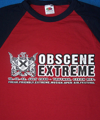 OBSCENE EXTREME 2008 - Jersey - Dark Red TS