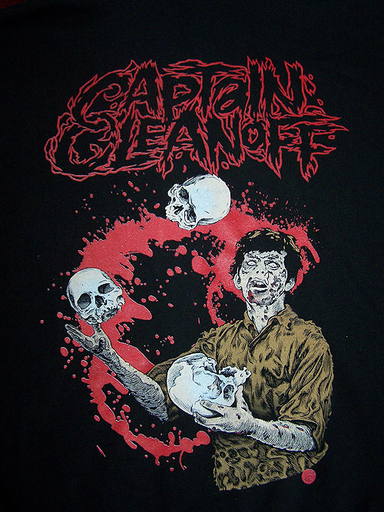 CAPTAIN CLEANOFF - Zombie & Skulls - TS
