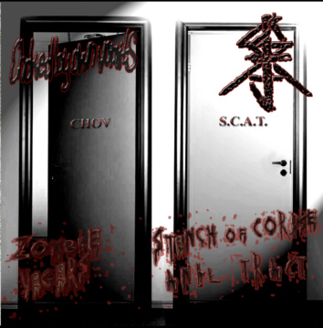 CHOKED BY OWN VOMITS / S.C.A.T. split CD
