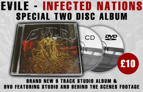 EVILE - Infected Nations CD + DVD