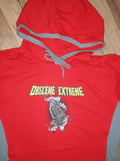 OBSCENE EXTREME 2011 - Pray For Grind - Girlie Hoodie Red