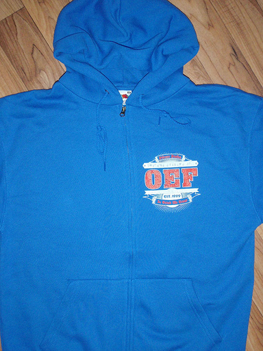 OBSCENE EXTREME 2011 - OEF Logo / Bands Blue Hoodie