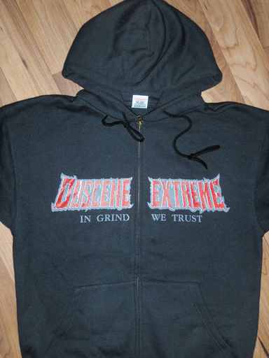 OBSCENE EXTREME 2011 - In Grind We Trust / Gasmask Black Hoodie