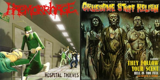 HAEMORRHAGE / GRUESOME STUFF RELISH split MCD