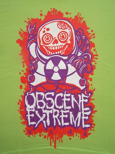 OBSCENE EXTREME 2012 - Happy Skull - KIDS Green TS
