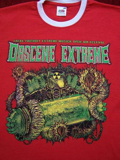 OBSCENE EXTREME 2012 - Toxic / Bands - Ringer Red TS