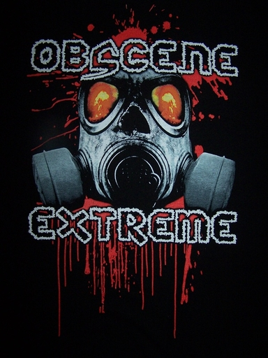OBSCENE EXTREME 2012 - OEF/NASUM Charity / Bands - Black TS