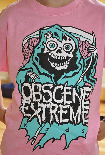 OBSCENE EXTREME 2013 - Happy Ms. Death - KIDS - Pink TS