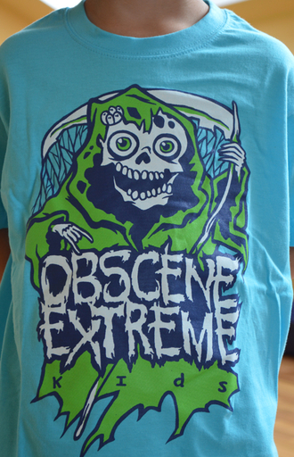 OBSCENE EXTREME 2013 - Happy Ms. Death - KIDS - Blue TS