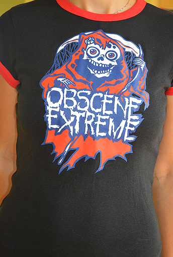OBSCENE EXTREME 2013 - Happy Ms. Death - GIRLIE - Ringer Black TS