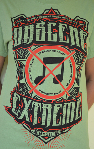 OBSCENE EXTREME 2013 - Note / Bands - Green TS