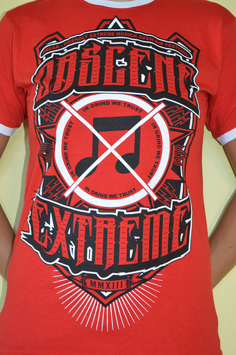 OBSCENE EXTREME 2013 - Note / Bands - Ringer Red TS
