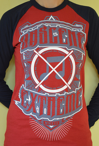OBSCENE EXTREME 2013 - Note / Bands - Baseball Red/Blue LS