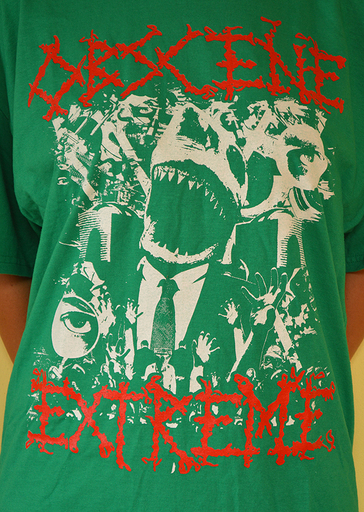 OBSCENE EXTREME 2013 - OEF/NAPALM DEATH Charity / Bands - Green TS