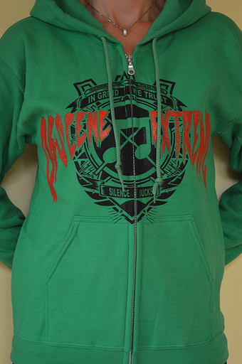 OBSCENE EXTREME 2013 - Note / Bands - Green Hoodie ZIP