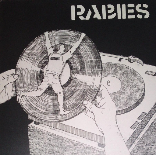 RABIES / STAND UP AND SPEAK UP! split LP