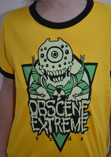 OBSCENE EXTREME 2014 - Monster - KIDS - Yellow TS