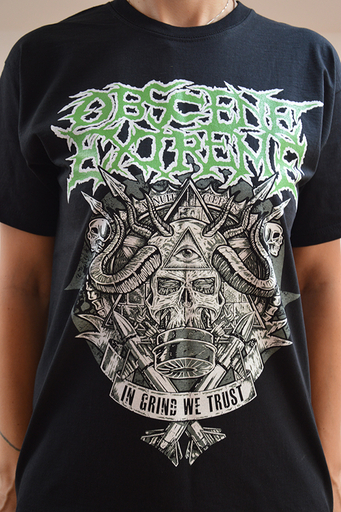 OBSCENE EXTREME 2014 - OEF/BRUTAL TRUTH Charity / Bands - Black TS