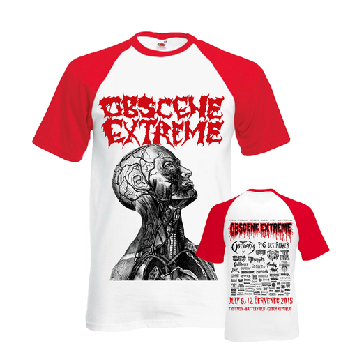 OBSCENE EXTREME 2015 - OEF/GENERAL SURGERY Charity / Bands - Baseball TS