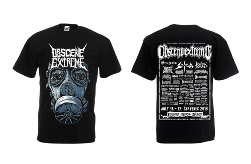 OBSCENE EXTREME 2016 - INSECT WARFARE + OBSCENE EXTREME CHARITY/BANDS - Black TS
