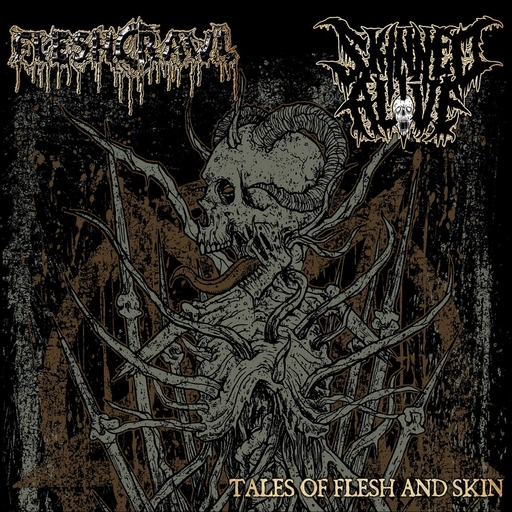 FLESHCRAWL/SKINNED ALIVE - Tales Of Flesh And Skin Split CD