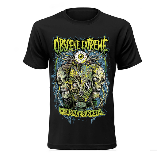 OBSCENE EXTREME 2017 – SKULLS/BANDS - BLACK TS