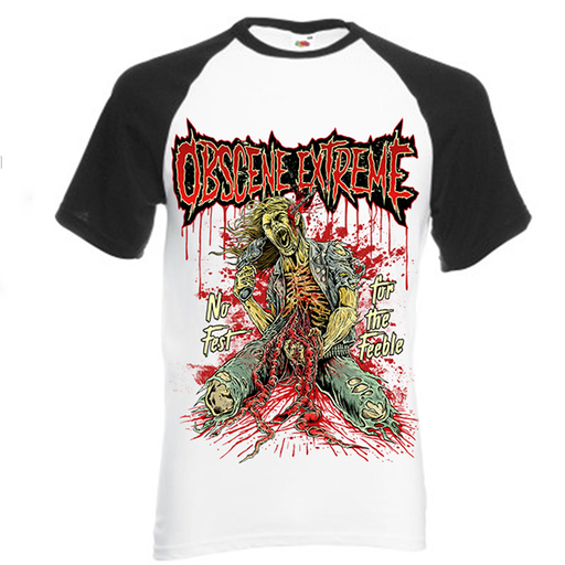 OBSCENE EXTREME 2017 - NO FEST FOR FEEBLE/BANDS - BASEBALL TS