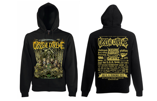 OBSCENE EXTREME 2017 – SCUM/BANDS - HOODIE BLACK ZIP