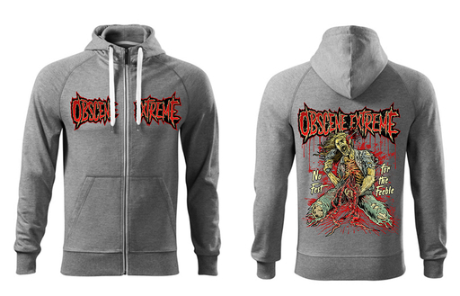 OBSCENE EXTREME 2017 – NO FEST FOR FEEBLE - HOODIE GREY ZIP