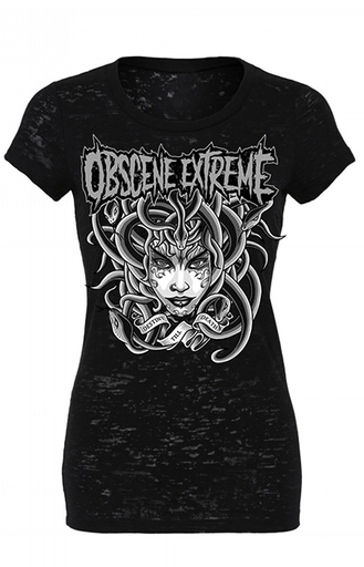 OBSCENE EXTREME 2017 – MEDUSA BLACK - GIRLIE T-SHIRT