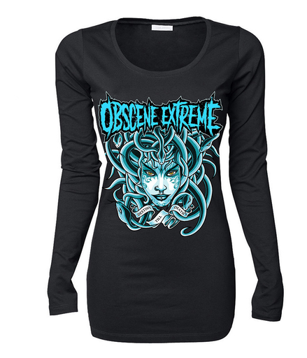 OBSCENE EXTREME 2017 – MEDUSA BLUE - GIRLIE LONG SLEEVE