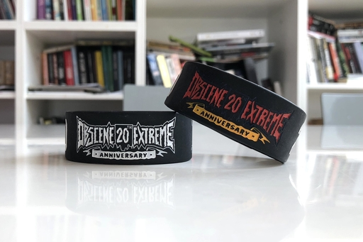 OBSCENE EXTREME 2018 – SILICONE BRACELET COLOURED - 20th ANNIVERSARY