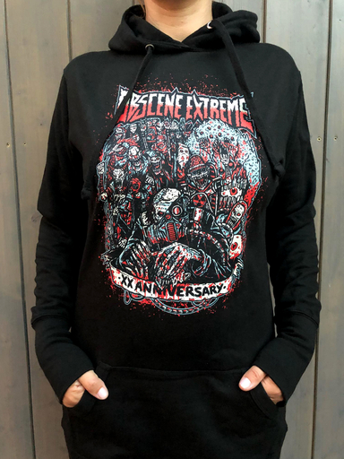 OBSCENE EXTREME 2018 – HORDES OF CHAOS - GIRLIE HOODIE BLACK