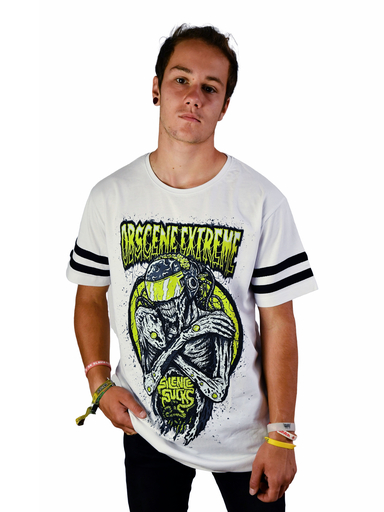 OBSCENE EXTREME 2019 – FUTURE?!? – WHITE/BLACK STRIPES TS