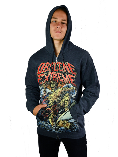 OBSCENE EXTREME 2019 – TOXIC SURFER – GREY HOODIE
