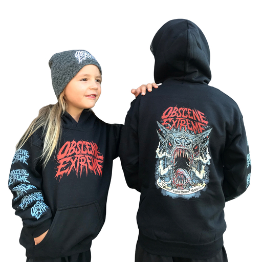 OBSCENE EXTREME 2019 – TRUTNOV – KINDER GRINDER GANG - KIDS BLACK HOODIE