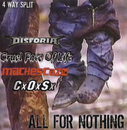 ALL FOR NOTHING 4 WAY SPLIT CD