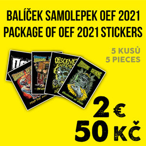 OBSCENE EXTREME 2021 - 5 STICKERS PACK