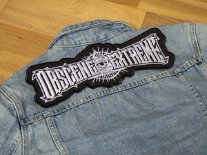 OBSCENE EXTREME 2021 - Eye logo - embroidered PATCH big